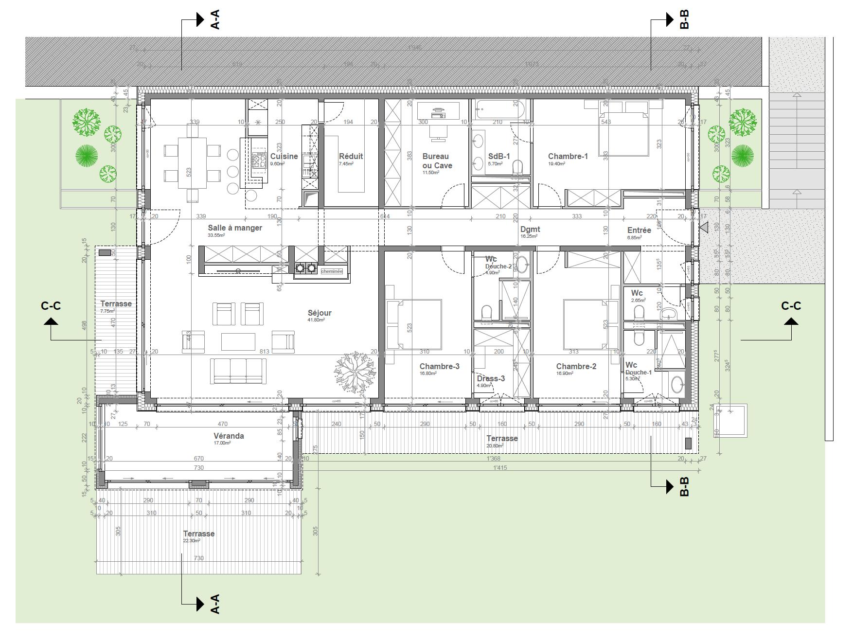 Appartement-villa A3