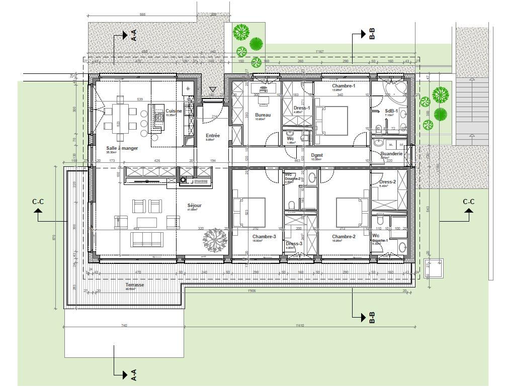Appartement-villa B1