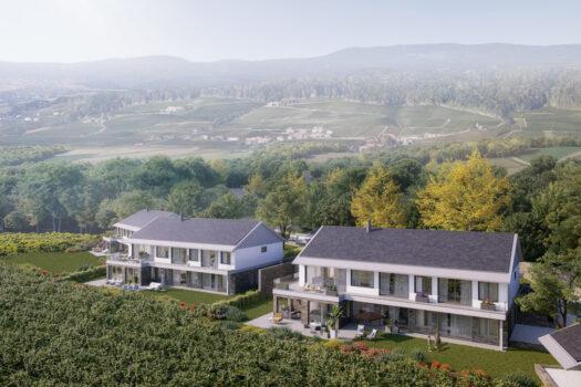 Vue aérienne Villas Dully Clos des Vignes
